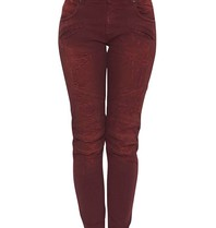 Pierre Balmain distressed jeans rood