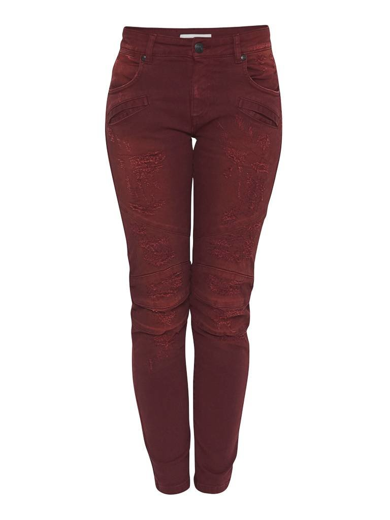 Pierre Balmain Pierre Balmain distressed jeans red