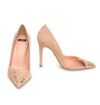 Elisabetta Franchi pumps met gouden sterrendetails roze