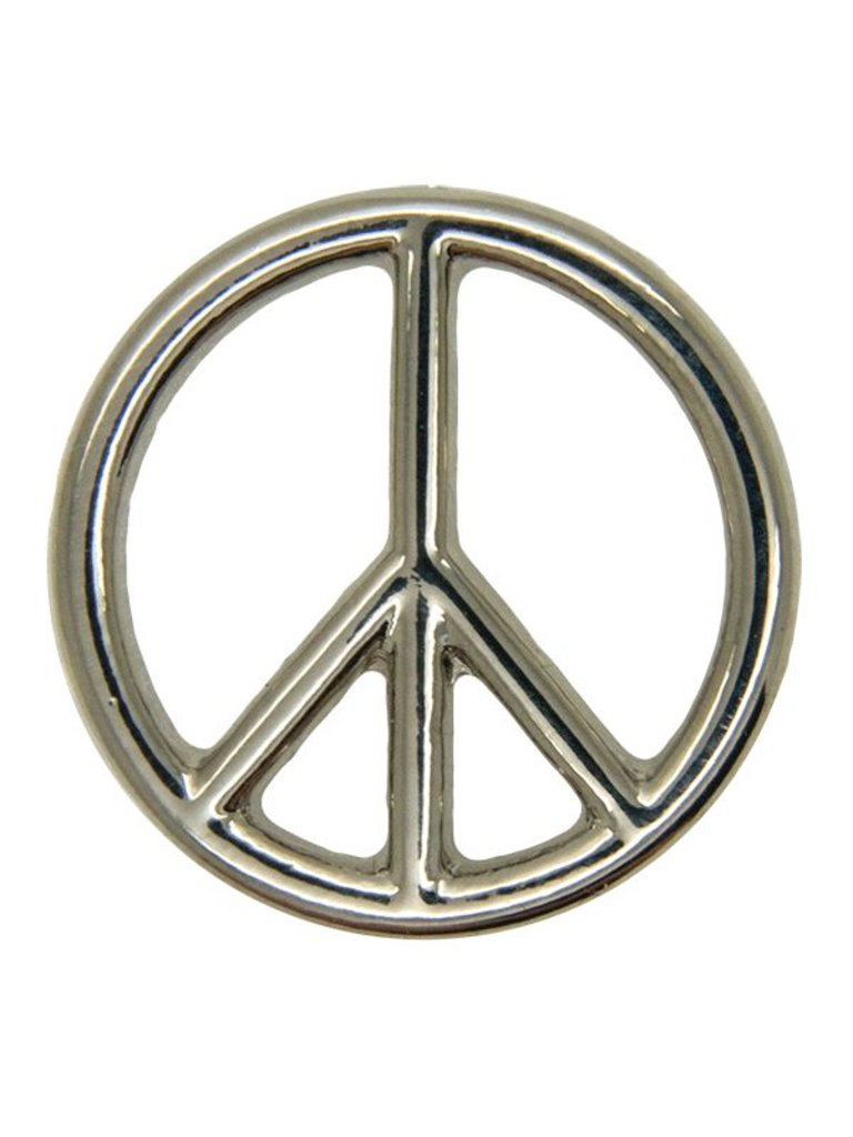 Godert.Me Godert.Me Peace sign pin silver