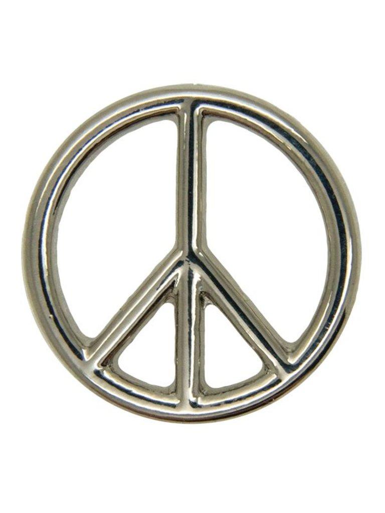 Godert.Me Godert.Me Peace sign pin zilver