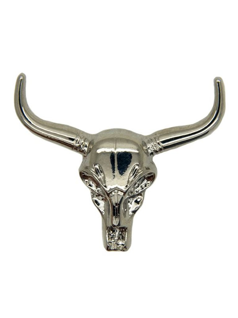 Godert.me Cow skull pin zilver