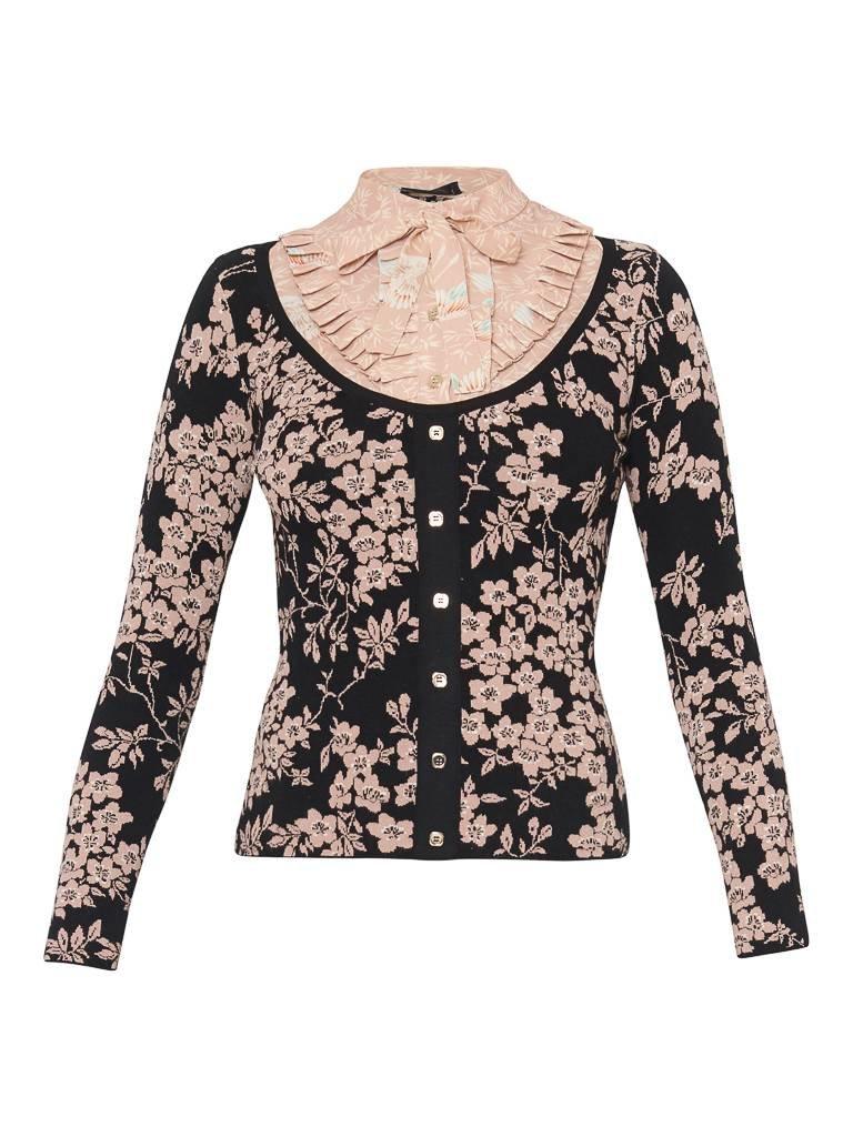 Elisabetta Franchi Elisabetta Franchi knitted top met bloemendetails