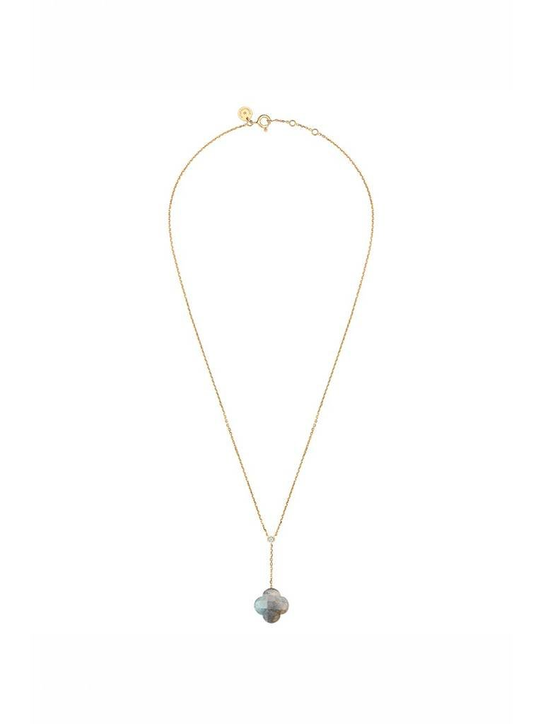 Morganne Bello Morganne Bello necklace with labradorite pendant diamond