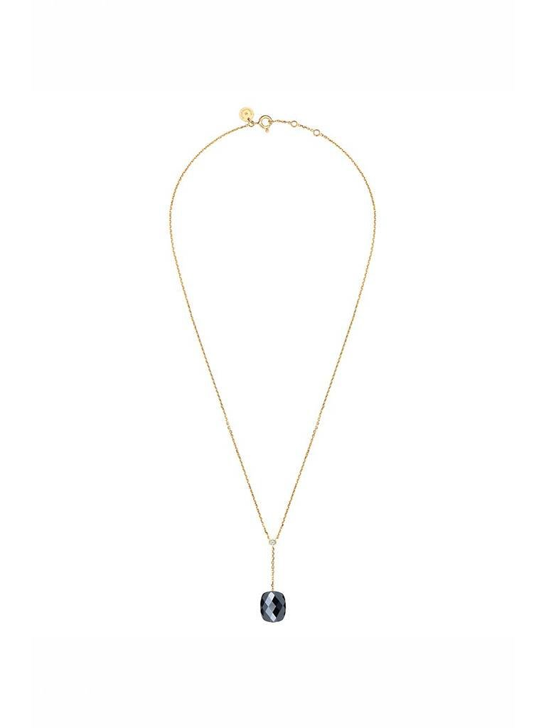 Morganne Bello Morganne Bello ketting met hematiet hanger diamant