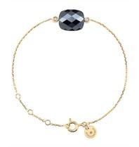 Morganne Bello armband met hematiet steen diamant