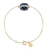 Morganne Bello Morganne Bello armband met hematiet steen diamant