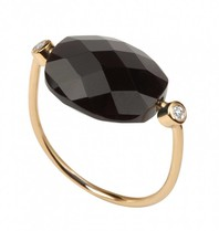Morganne Bello Morganne Bello ring hematiet steen diamant