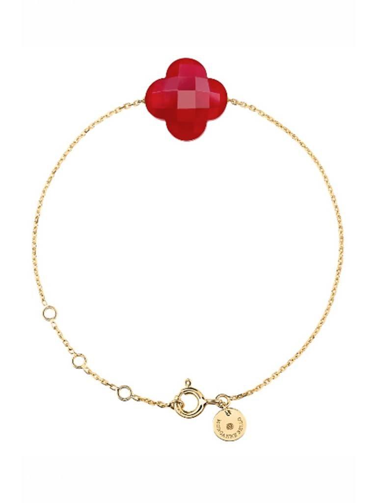 Morganne Bello Morganne Bello armband met rode kwarts steen