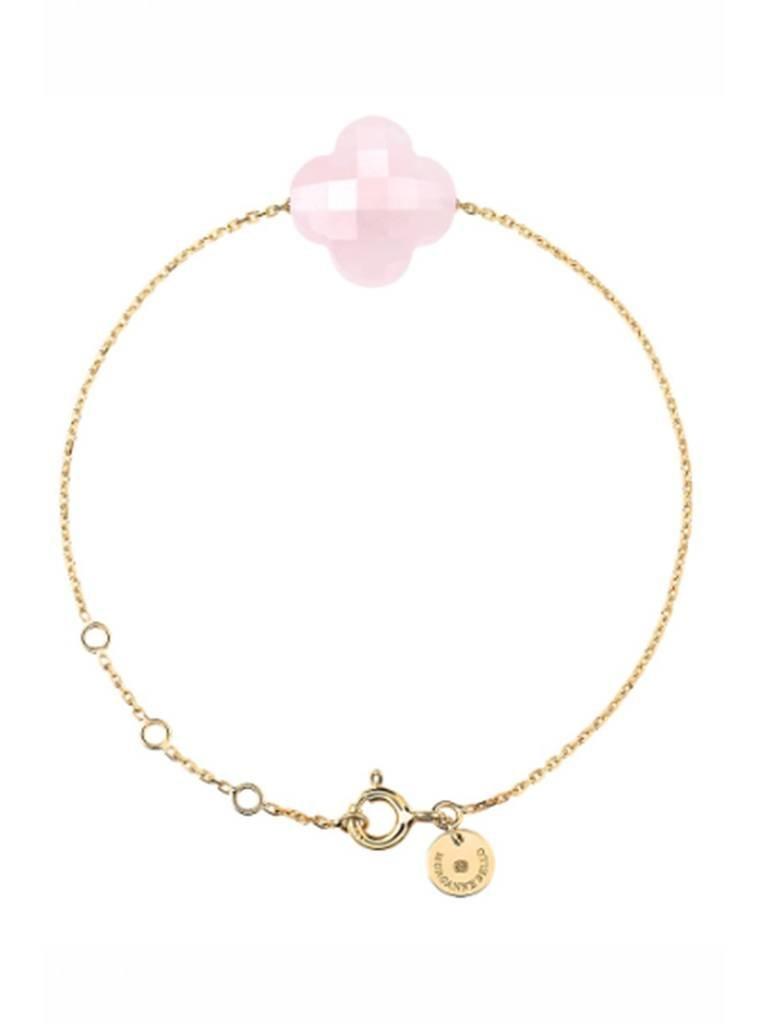 Morganne Bello Morganne Bello armband met roze kwarts steen