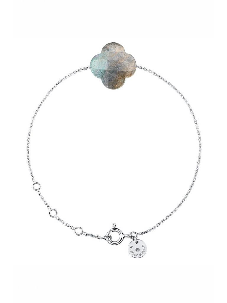 Morganne Bello Morganne Bello bracelet with labradorite stone white gold