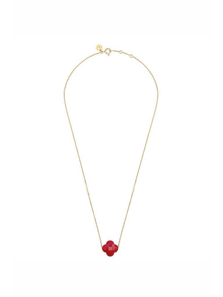 Morganne Bello Morganne Bello necklace with red quartz stone