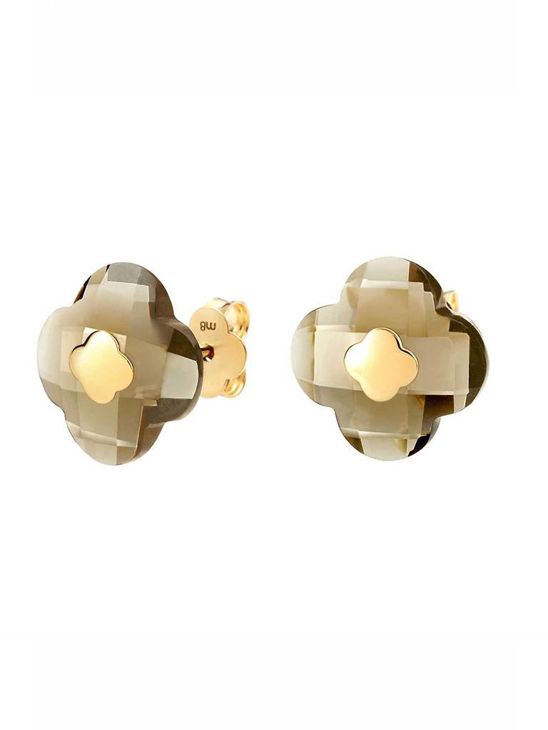 Morganne Bello Morganne Bello earrings smoky quartz stone