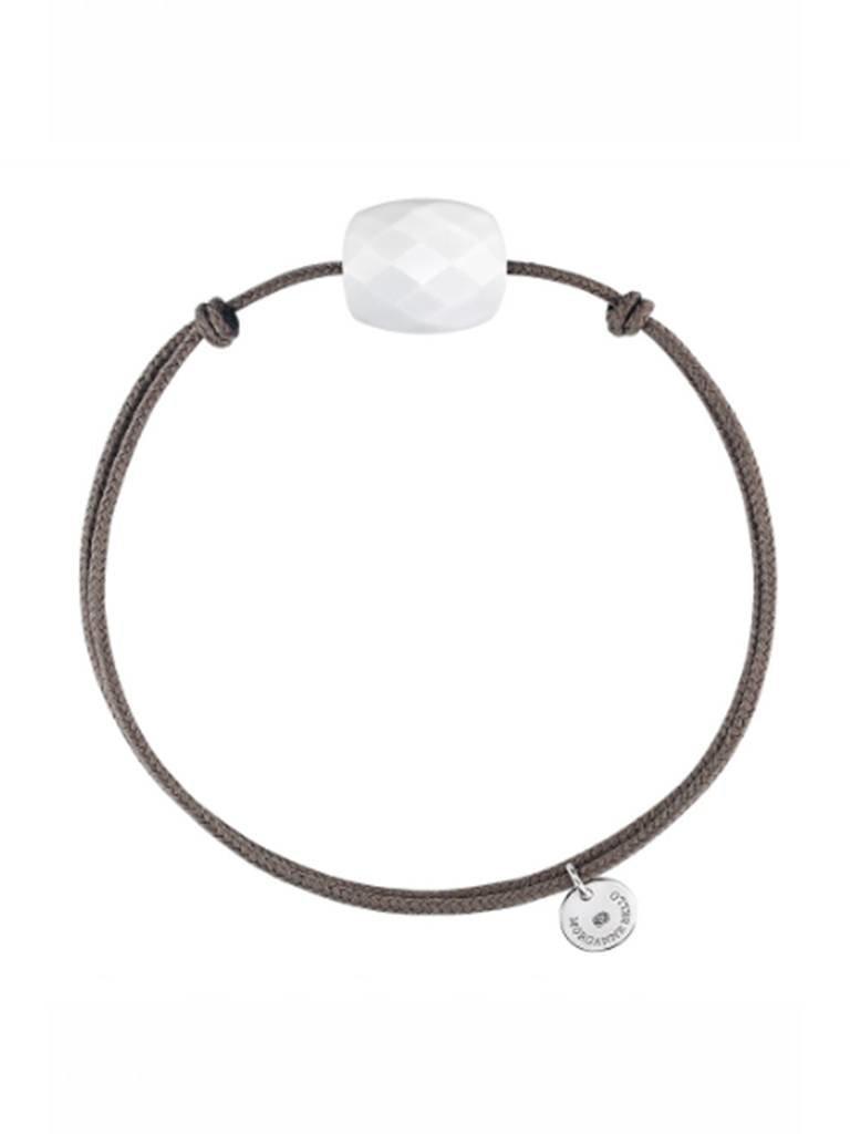 Morganne Bello Morganne Bello armband met witte agaat