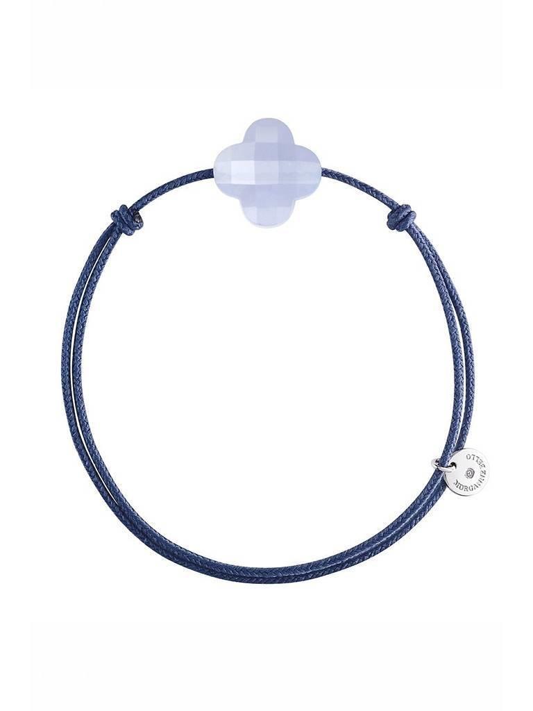 Morganne Bello Morganne Bello cord bracelet with chalcedony