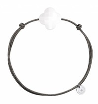 Morganne Bello Morganne Bello Cord bracelet with Hematiet - Copy