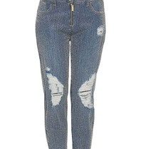 Elisabetta Franchi boyfriend jeans met kralen