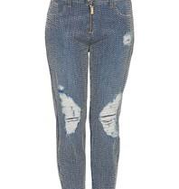 Elisabetta Franchi Elisabetta Franchi boyfriend jeans met kralen