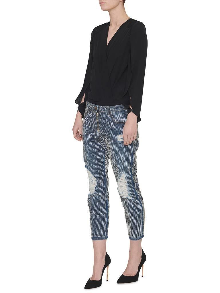 Elisabetta Franchi Elisabetta Franchi Boyfriend-Jeans mit Perlen