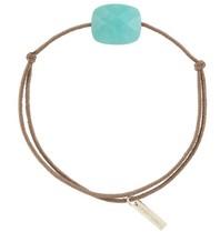 Morganne Bello Morganne Bello koord armband met Amazonite