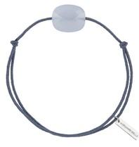 Morganne Bello koord armband met Calcedonite blauw