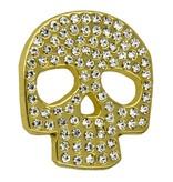 Godert.me Rhinestone skull pin goud