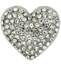 Godert.Me Godert.me Rhinestone heart pin zilver