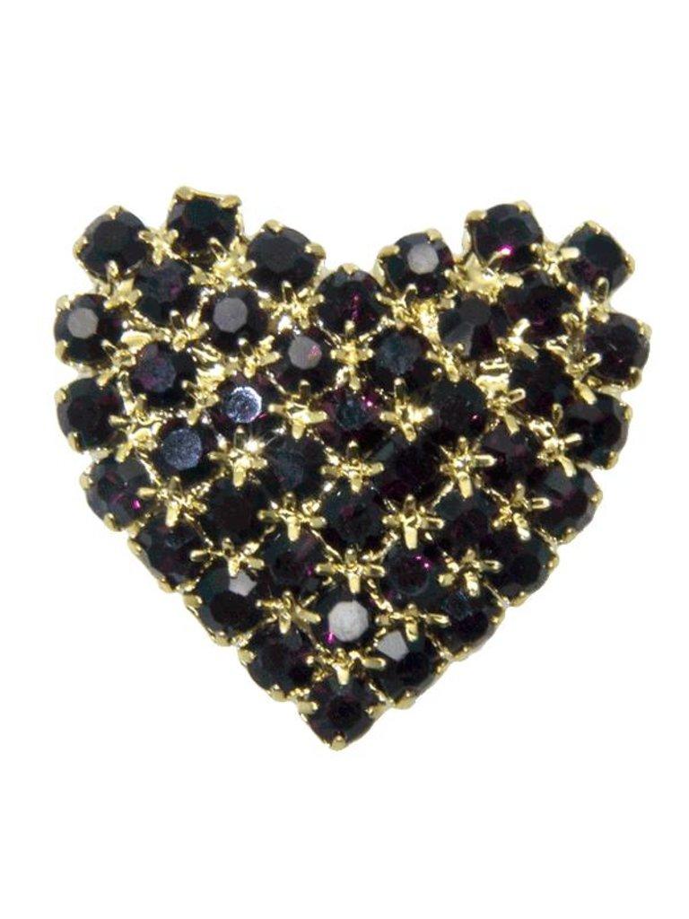 Godert.Me Godert.me Rhinestone heart gold / purple
