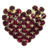 Godert.Me Godert.me Rhinestone heart gold / red