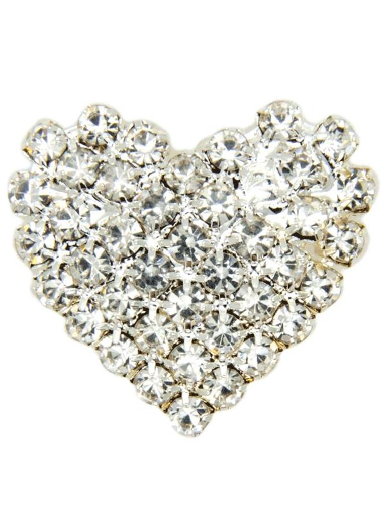 Godert.Me Godert.me Rhinestone heart silver