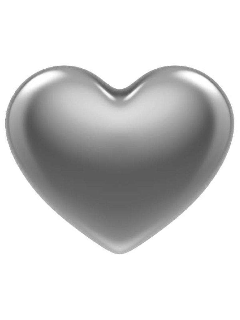 Godert.me 3D heart pin zilver