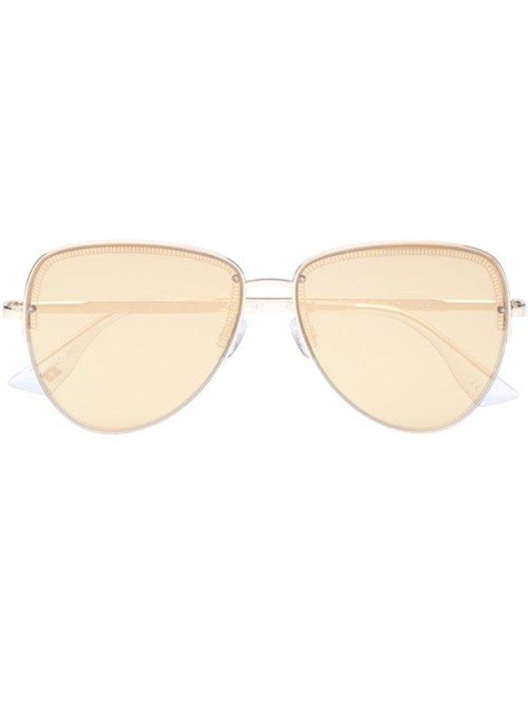 Le Specs Luxe Le Specs Sonnenbrille Luxus Empress Gold
