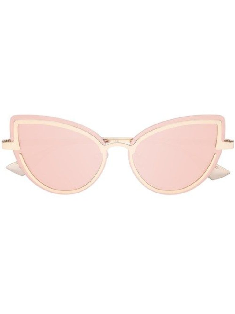 Le Specs Luxe Adulation Sonnenbrille Rotgold