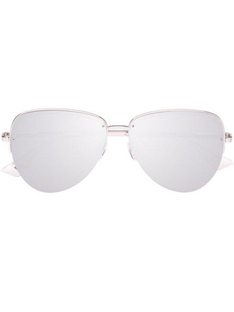 Le Specs Luxe Le Specs Luxe Empress zonnebril platinum