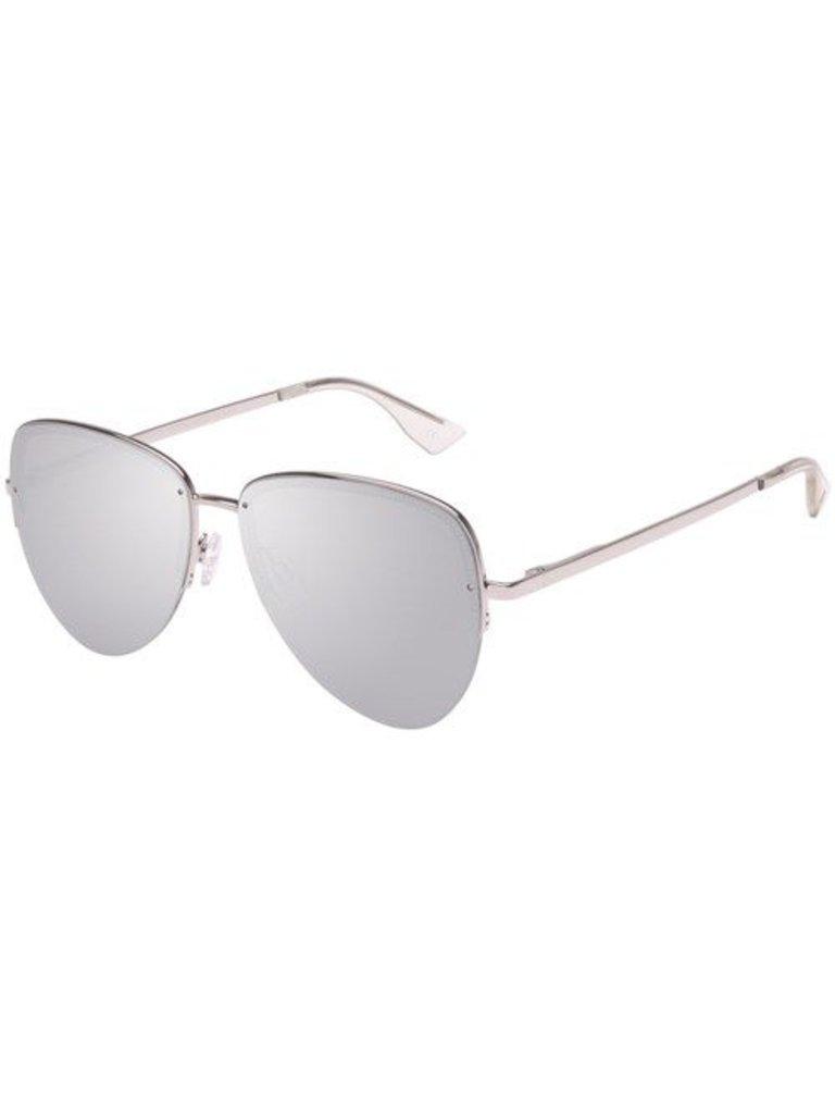 Le Specs Luxury Empress Sonnenbrille aus Platin