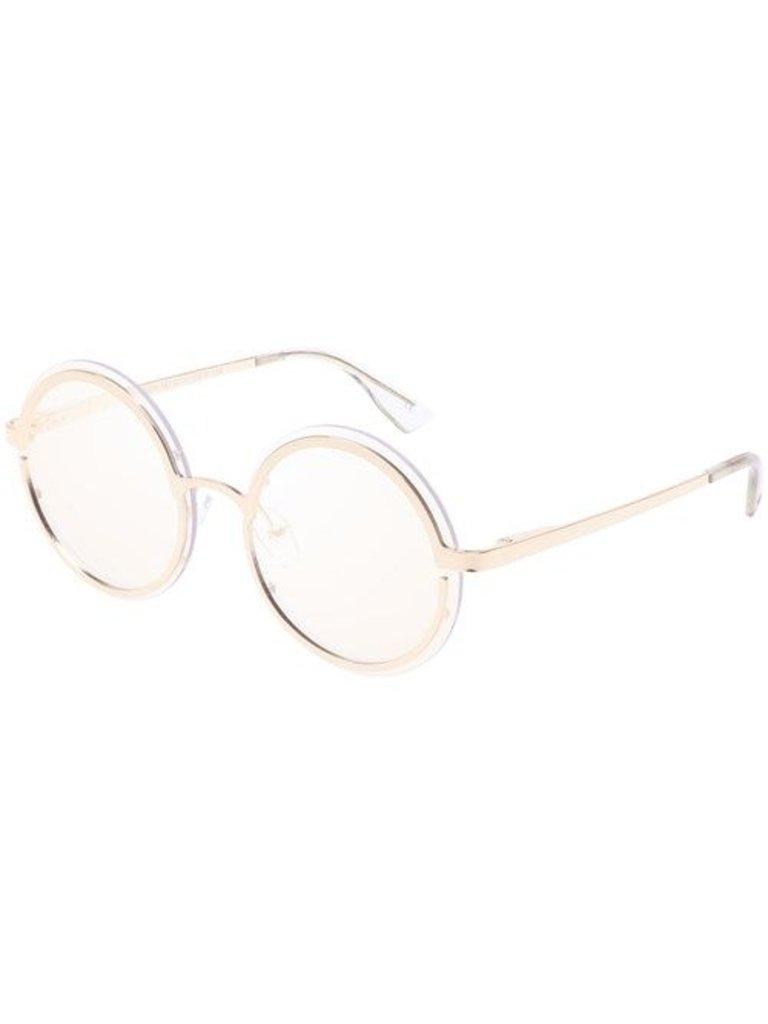 Le Specs Luxe Le Specs Luxe Oviaton Sonnenbrille Gold