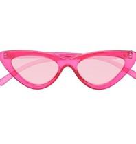Le Specs x Adam Selman The Last Lolita zonnebril roze