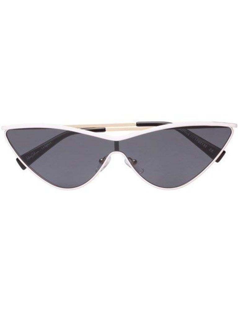 Le Specs Le Specs x Adam Selman Die Fugitive Sonnenbrille weiß