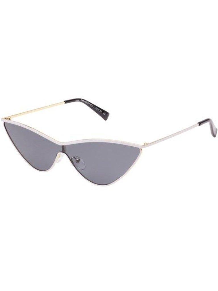 Le Specs Le Specs x Adam Selman The Fugitive zonnebril wit