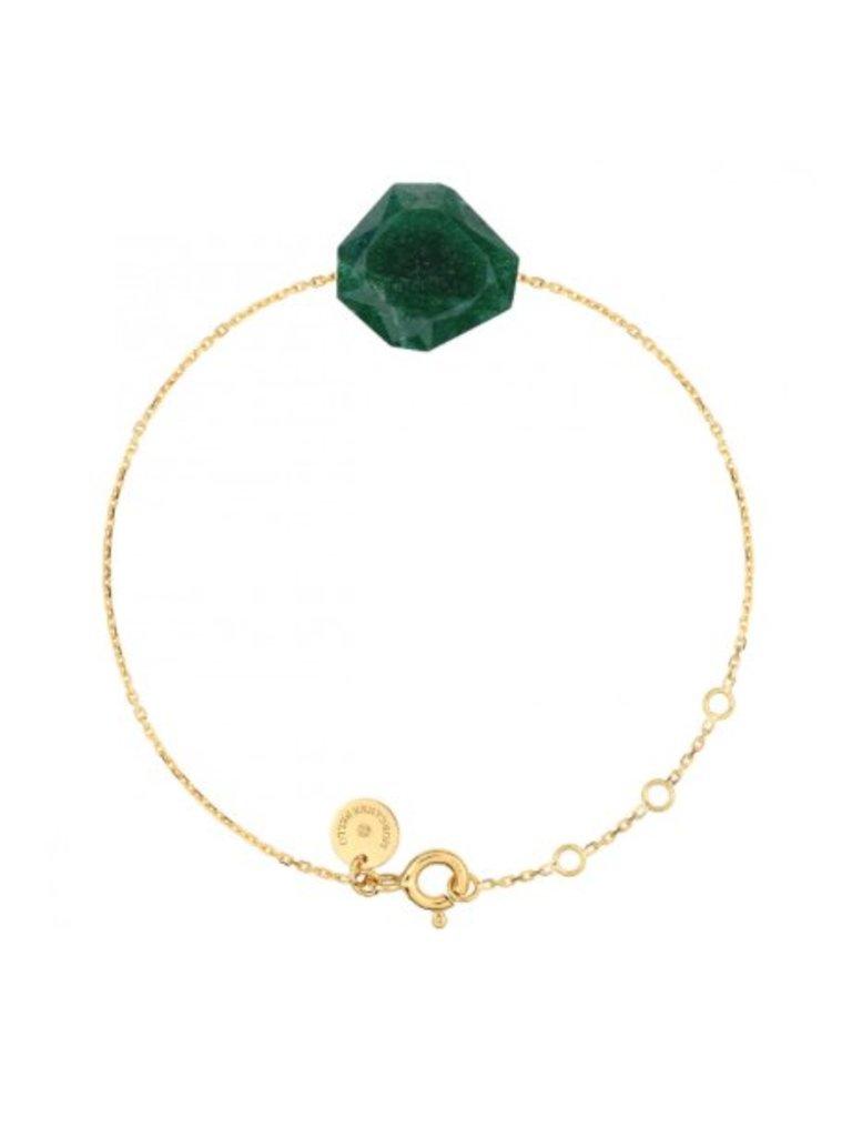 Morganne Bello Morganne Bello armband groene Quartz