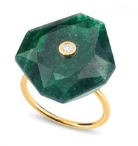 Morganne Bello ring oversized groen Quartz