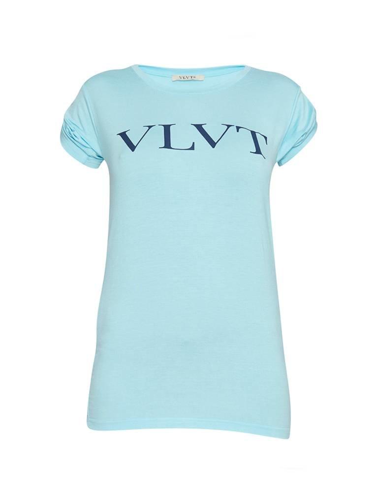 VLVT VLVT T-shirt met opdruk blauw donkerblauw