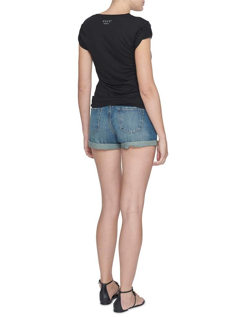 VLVT VLVT t-shirt with imprint black and white