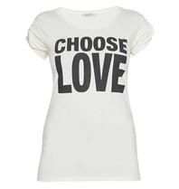 VLVT wählen Liebes-T-Shirt mit Aufdruck weiß schwarz