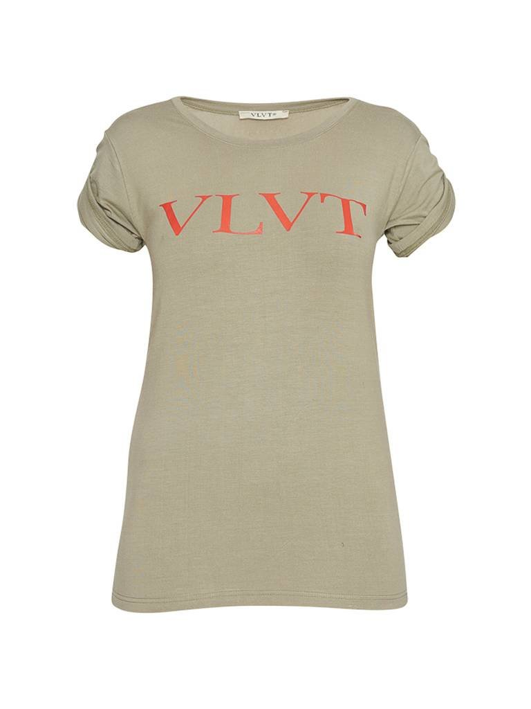 VLVT VLVT t-shirt with print green red