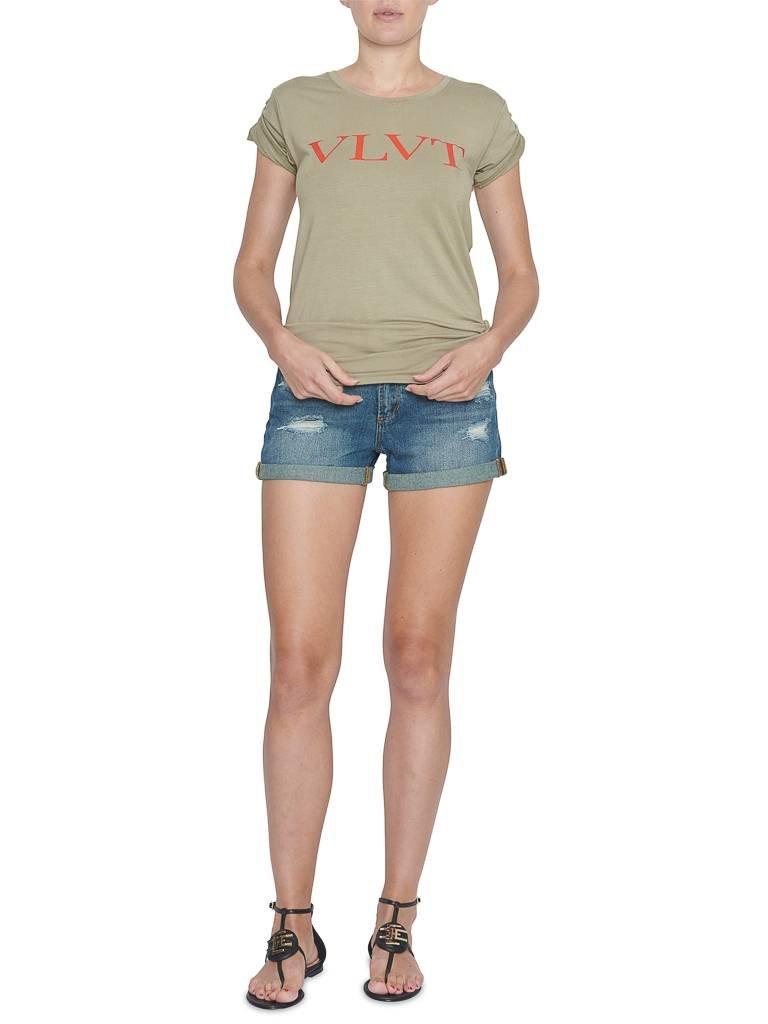 VLVT VLVT t-shirt met opdruk groen rood