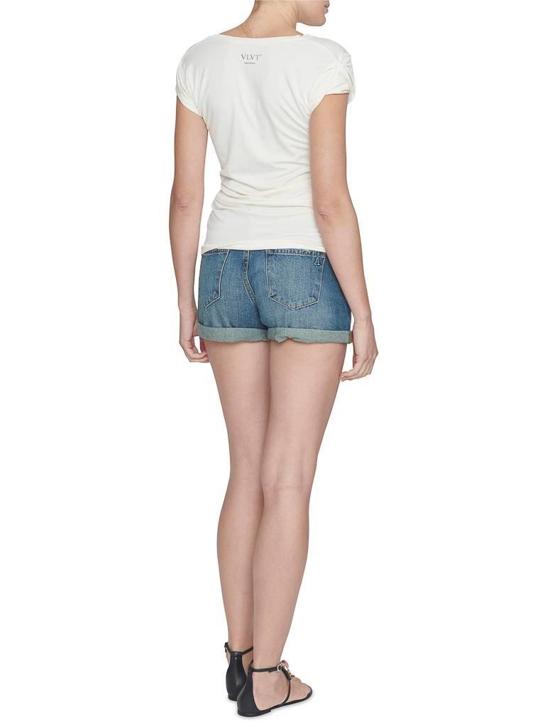 VLVT VLVT j'adore t-shirt met opdruk wit rood