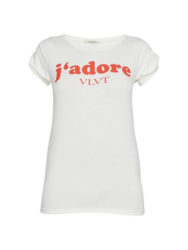 VLVT VLVT j'adore T-Shirt mit Aufdruck weiß rot