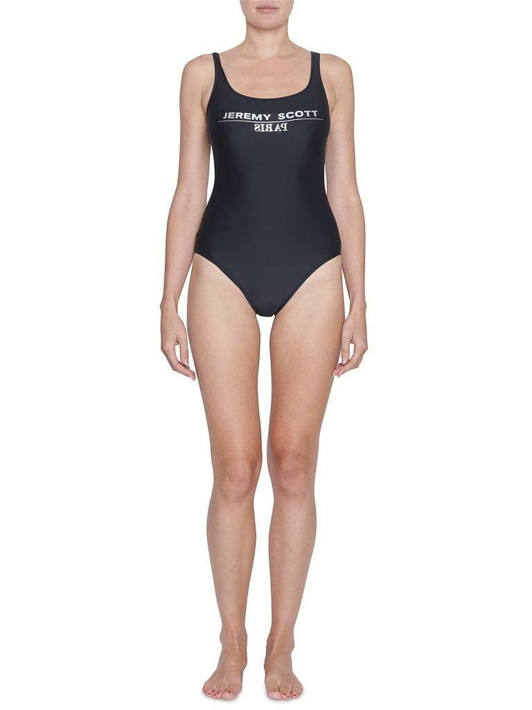Jeremy Scott Jeremy Scott swimsuit with silver text black
