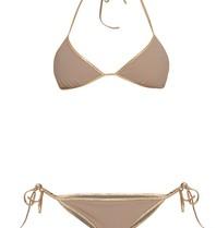 Tooshie Hampton Reversible Dreieck Bikini Taupe braun